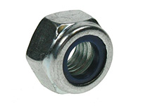 Picture of a DIN 985 nylon insert lock nut