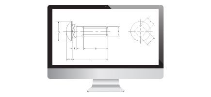 Screen With Drawing Of Cup Square Bolt